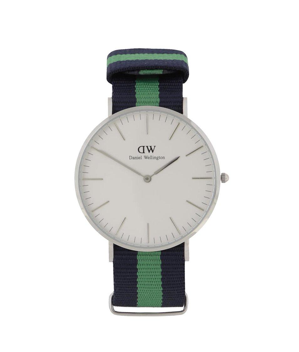 Zeleno-modré pánské hodinky CLASSIC Warwick Daniel Wellington