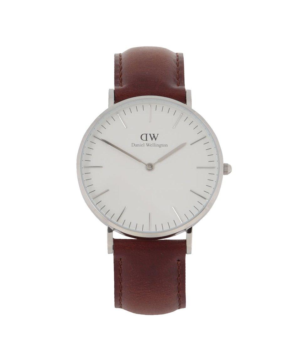 Hnědé dámské hodinky s koženým páskem CLASSIC St. Maves Daniel Wellington