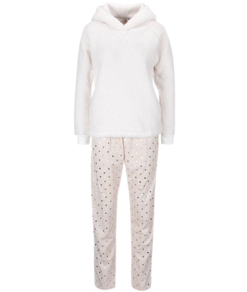Krémové pyžamo s kapucí s králičími oušky Dorothy Perkins