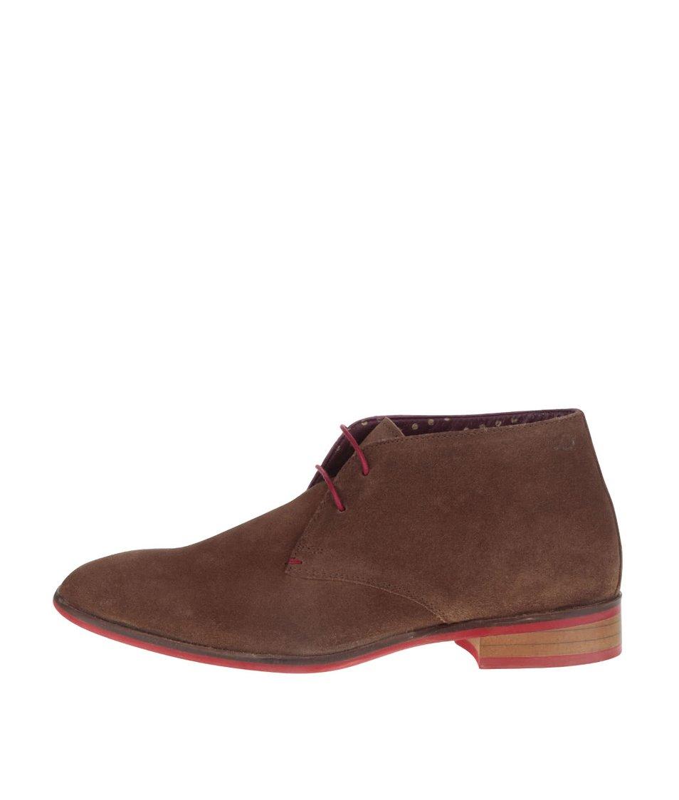 Světle hnědé semišové kotníkové boty  London Brogues Croxley Chukka