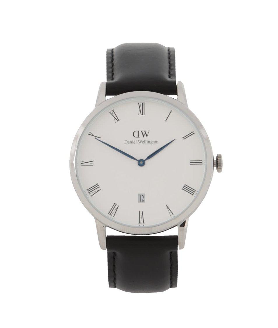 Tmavě hnědé pánské hodinky s koženým páskem DAPPER Sheffield Daniel Wellington