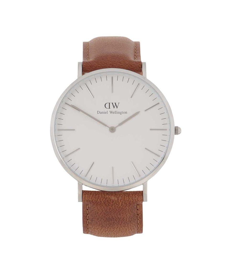Světle hnědé pánské hodinky s koženým páskem CLASSIC Durham Daniel Wellington