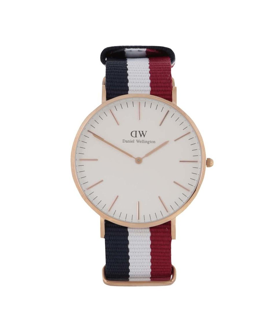 Červeno-modré pánské hodinky CLASSIC Cambridge Daniel Wellington