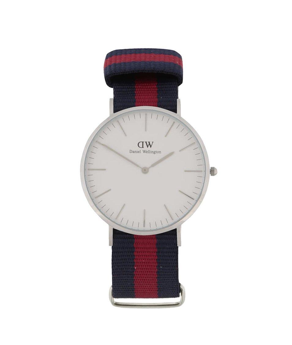Červeno-modré pánské hodinky CLASSIC Oxford Daniel Wellington
