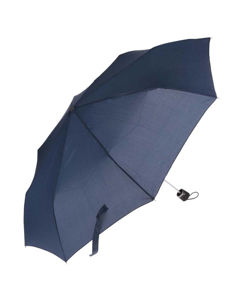 Tmavě modrý pánský skládací deštník bugatti