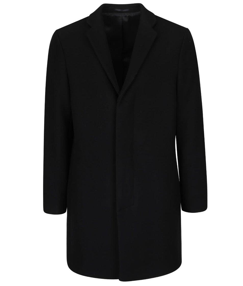 Černý vlněný kabát Selected Homme New Brook