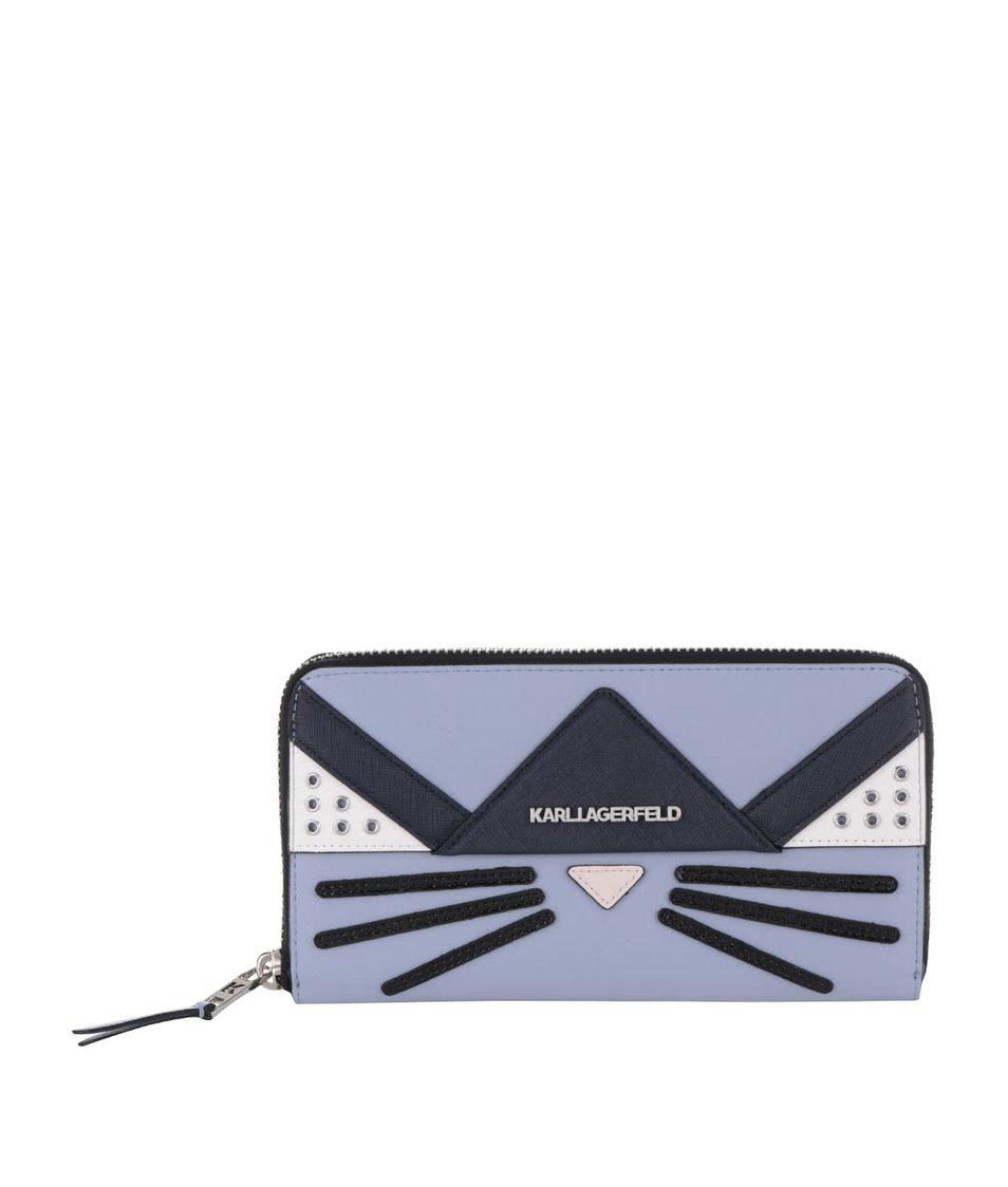Světle modrá peněženka KARL LAGERFELD