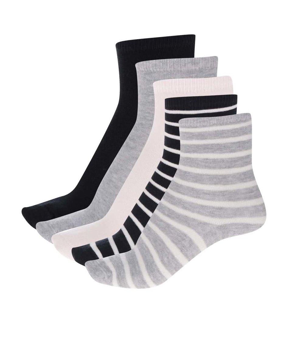 Sada pěti párů holčičích barevných ponožek name it