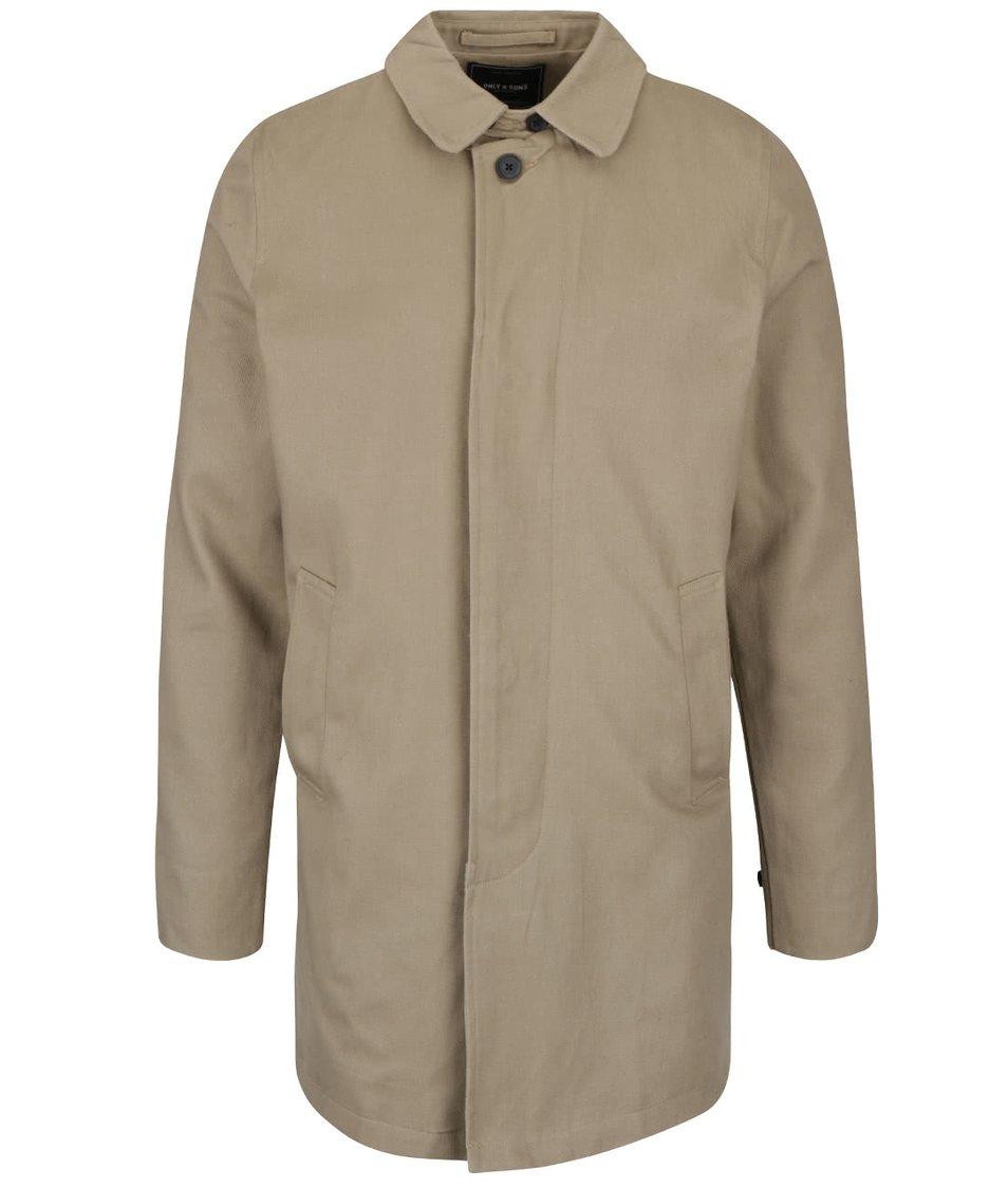 Béžový lehký kabát ONLY & SONS Journal
