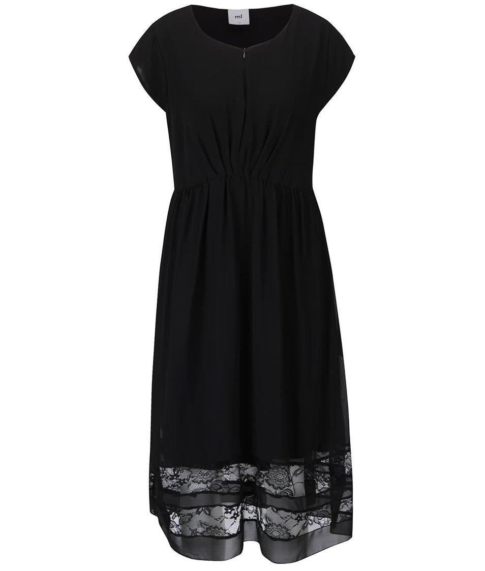 Čierne tehotenské/dojčiace šaty s čipkou Mama.licious Alexandra