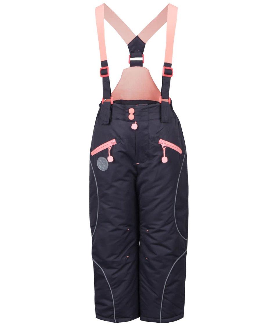 Šedé holčičí zimní kalhoty s růžovými detaily 5.10.15.