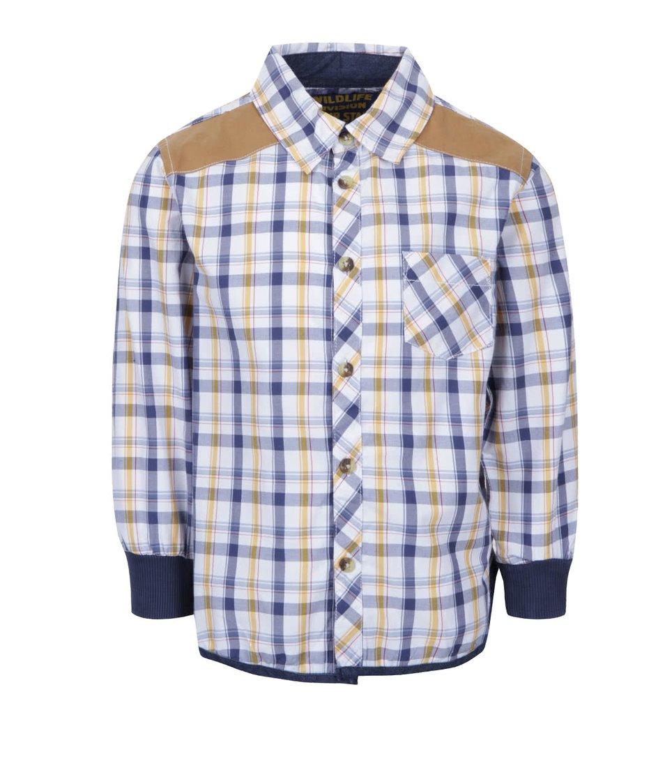 Modro-bílá klučičí kostkovaná košile s detaily 5.10.15.