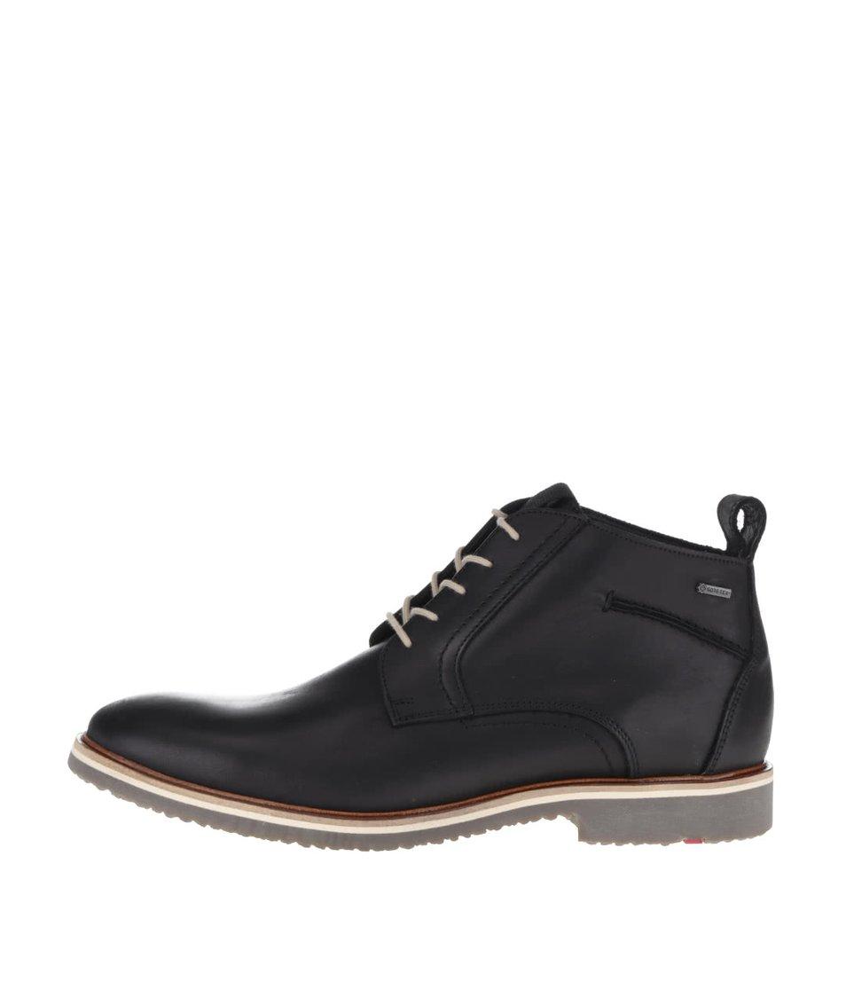 Černé pánské kožené kotníkové boty Lloyd Panama