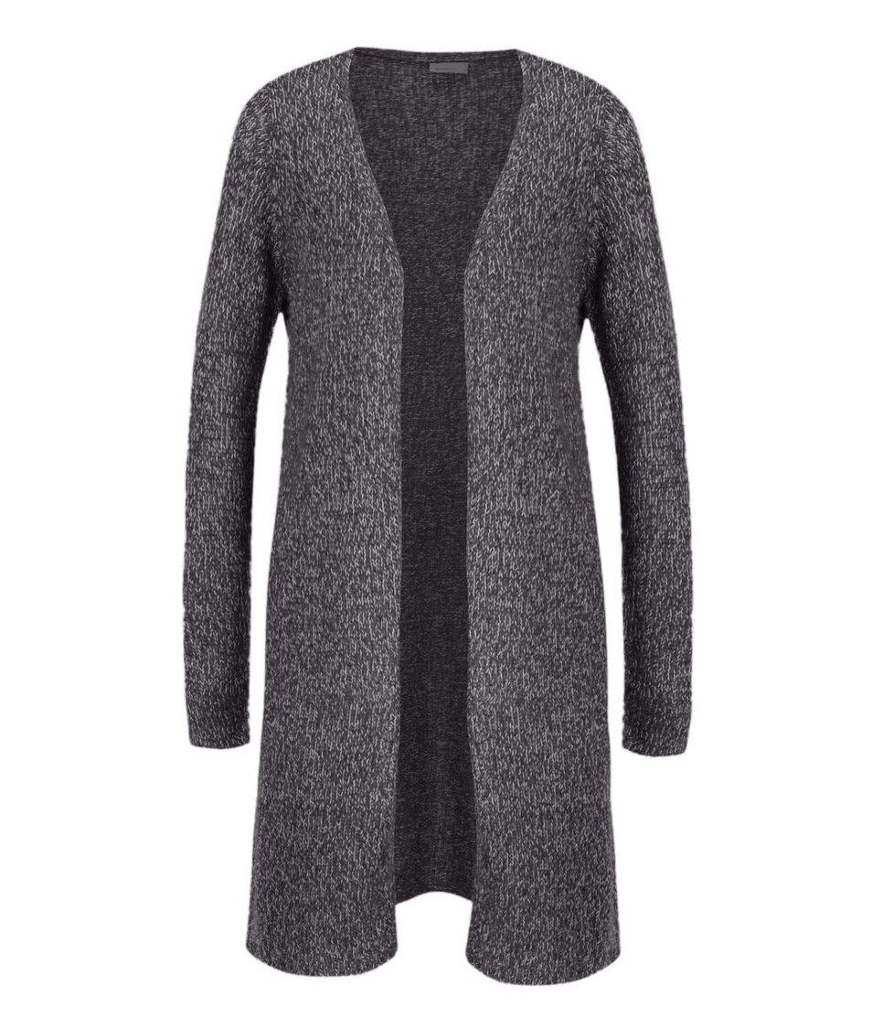 Tmavě šedý žíhaný dlouhý cardigan Vero Moda Jive
