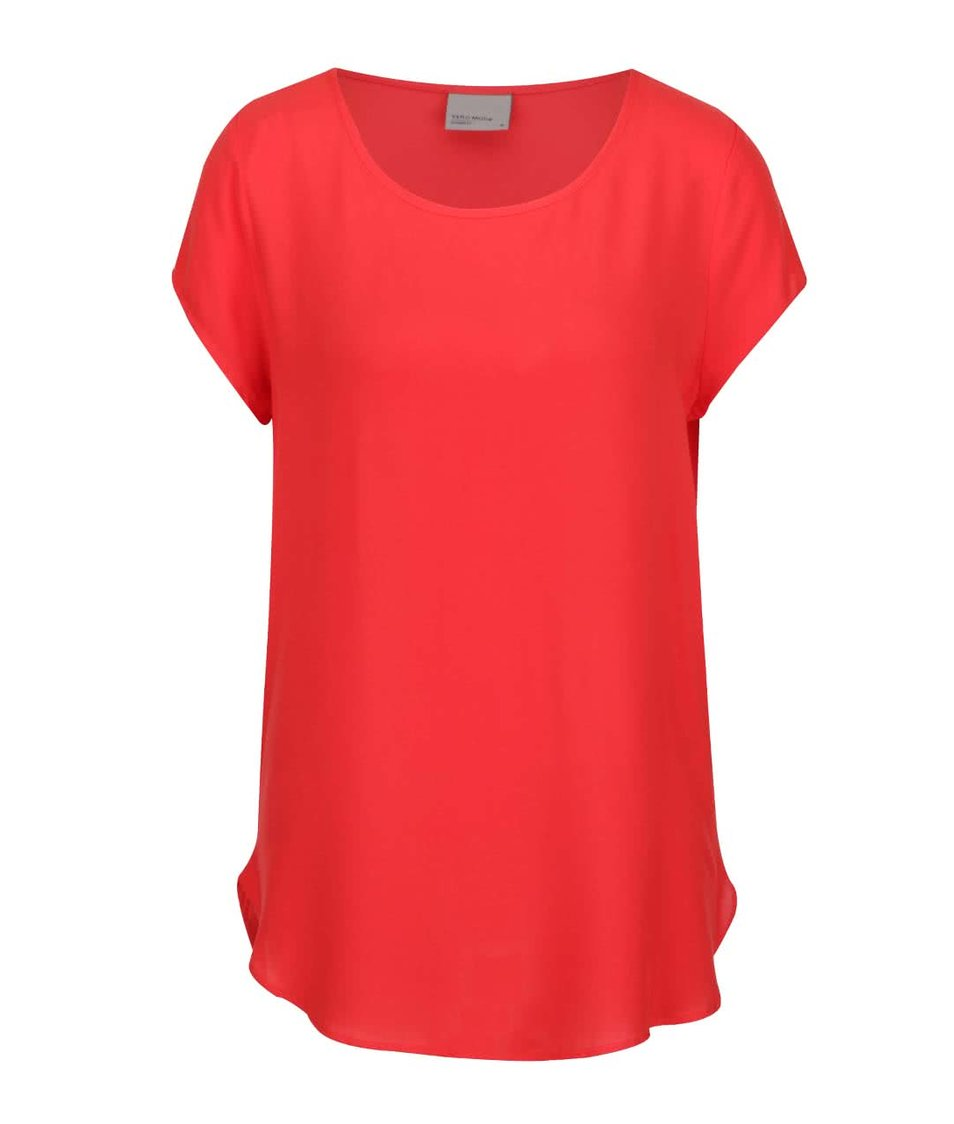 Červený volnější top Vero Moda Boca