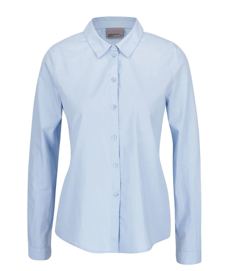 Světle modrá košile s volánkem na zádech Vero Moda Fraya