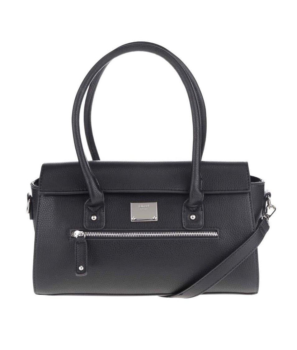 Černá kabelka s detaily ve stříbrné barvě Gionni Lia