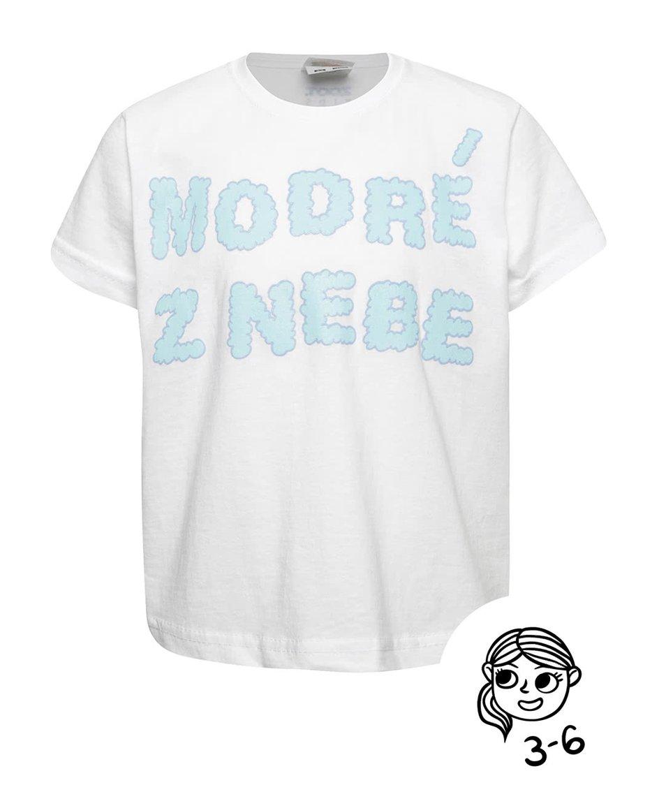 Bílé holčičí tričko ZOOT Kids Modré z nebe