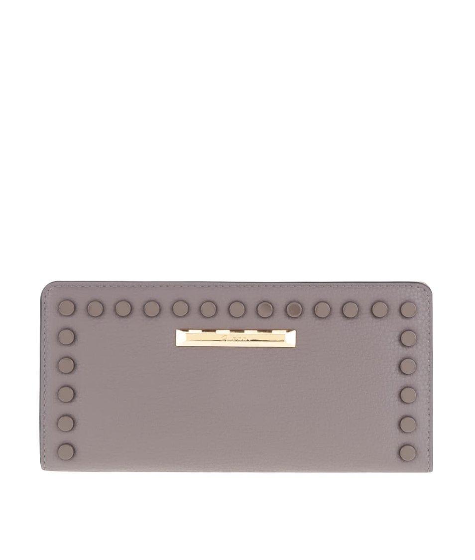 Šedohnědá dámská peněženka s plastickými detaily Gionni