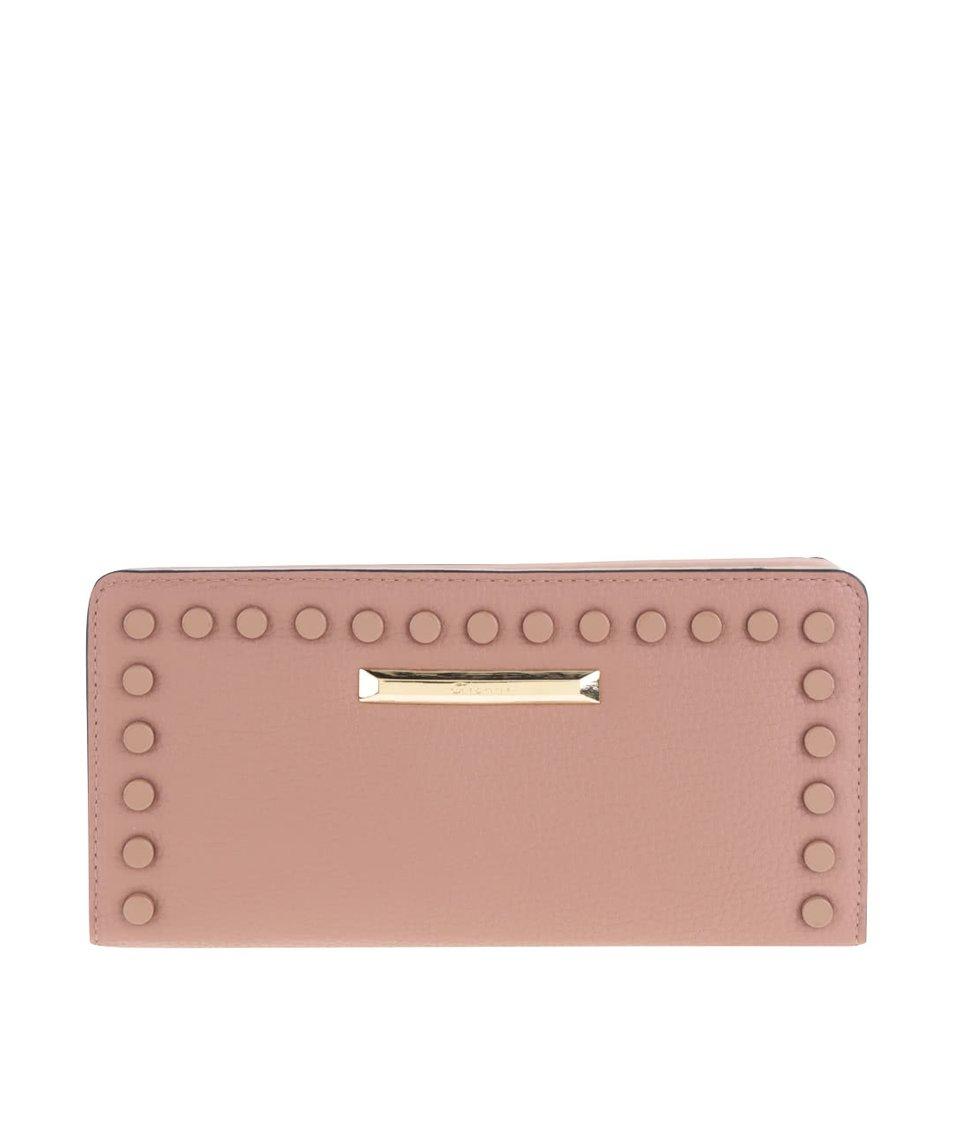 Oranžovohnědá dámská peněženka s plastickými detaily Gionni