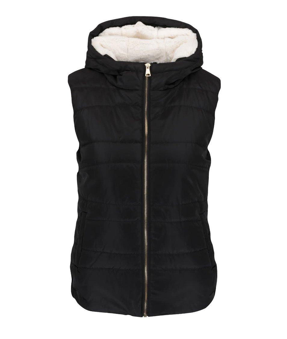 Černá vesta s kapucí Haily´s Lulu