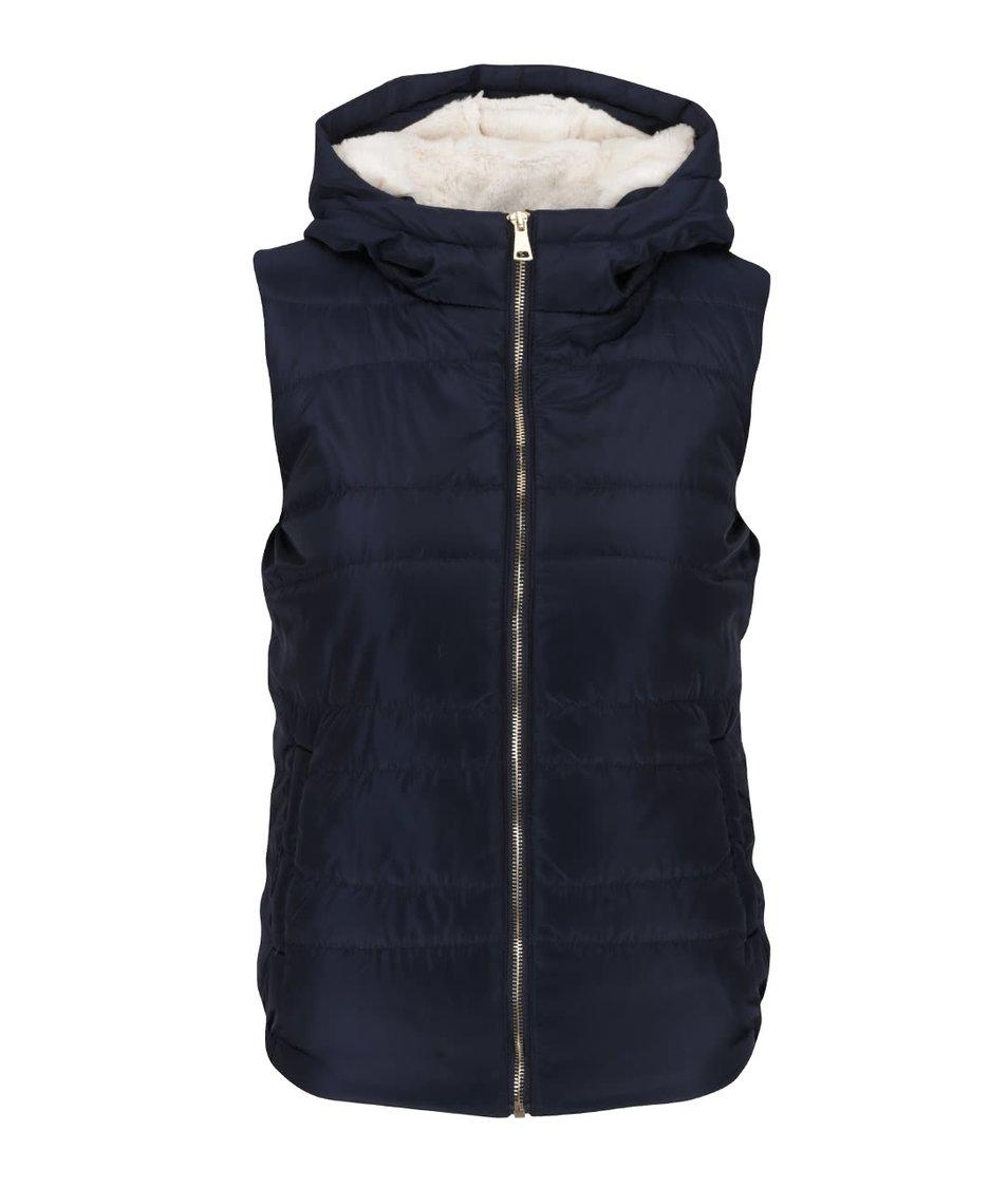 Tmavě modrá vesta s kapucí Haily´s Lulu