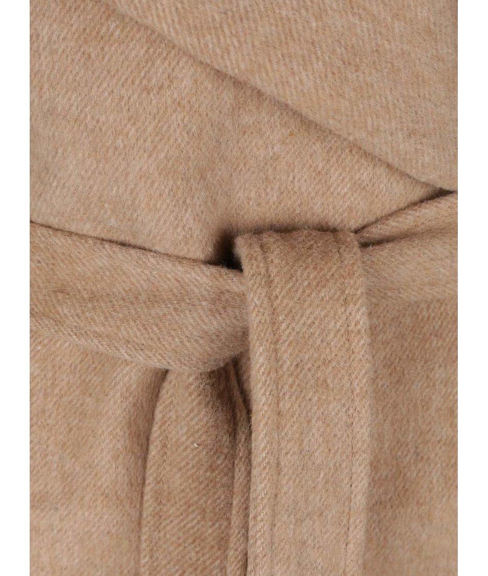 Béžový dámský kabát s páskem Broadway Remi