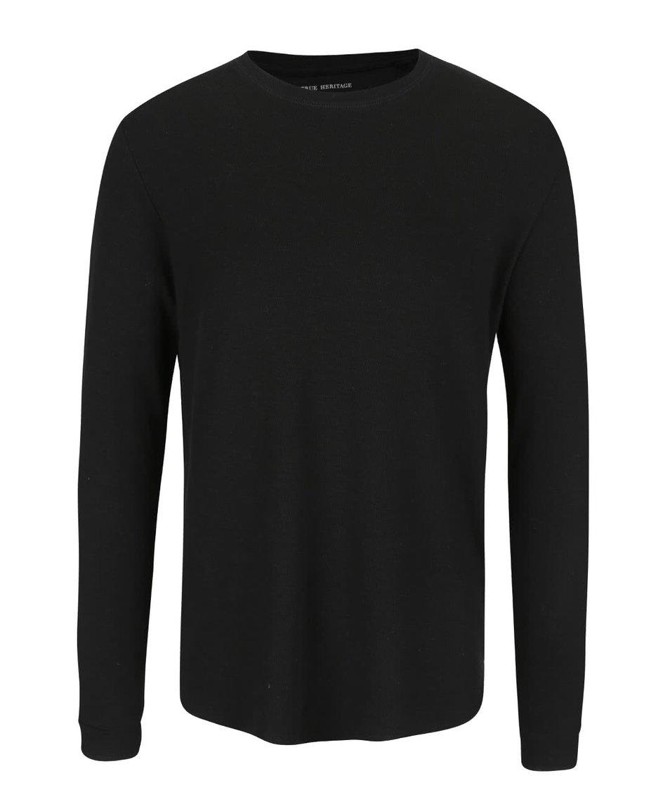 Černé triko s jemným vzorem ONLY & SONS Karl