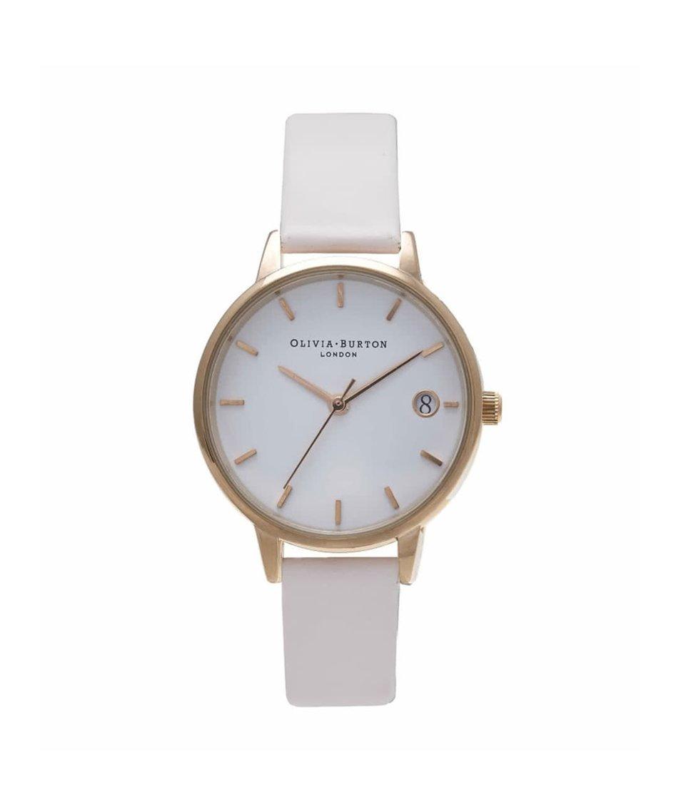 Krémové hodinky s bílým ciferníkem Olivia Burton
