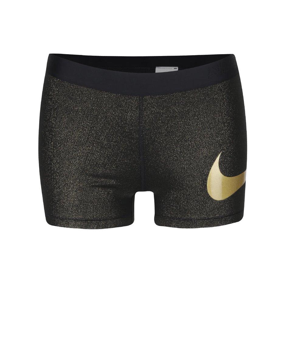 Černé dámské třpytivé kraťasy Nike Pro Training Short