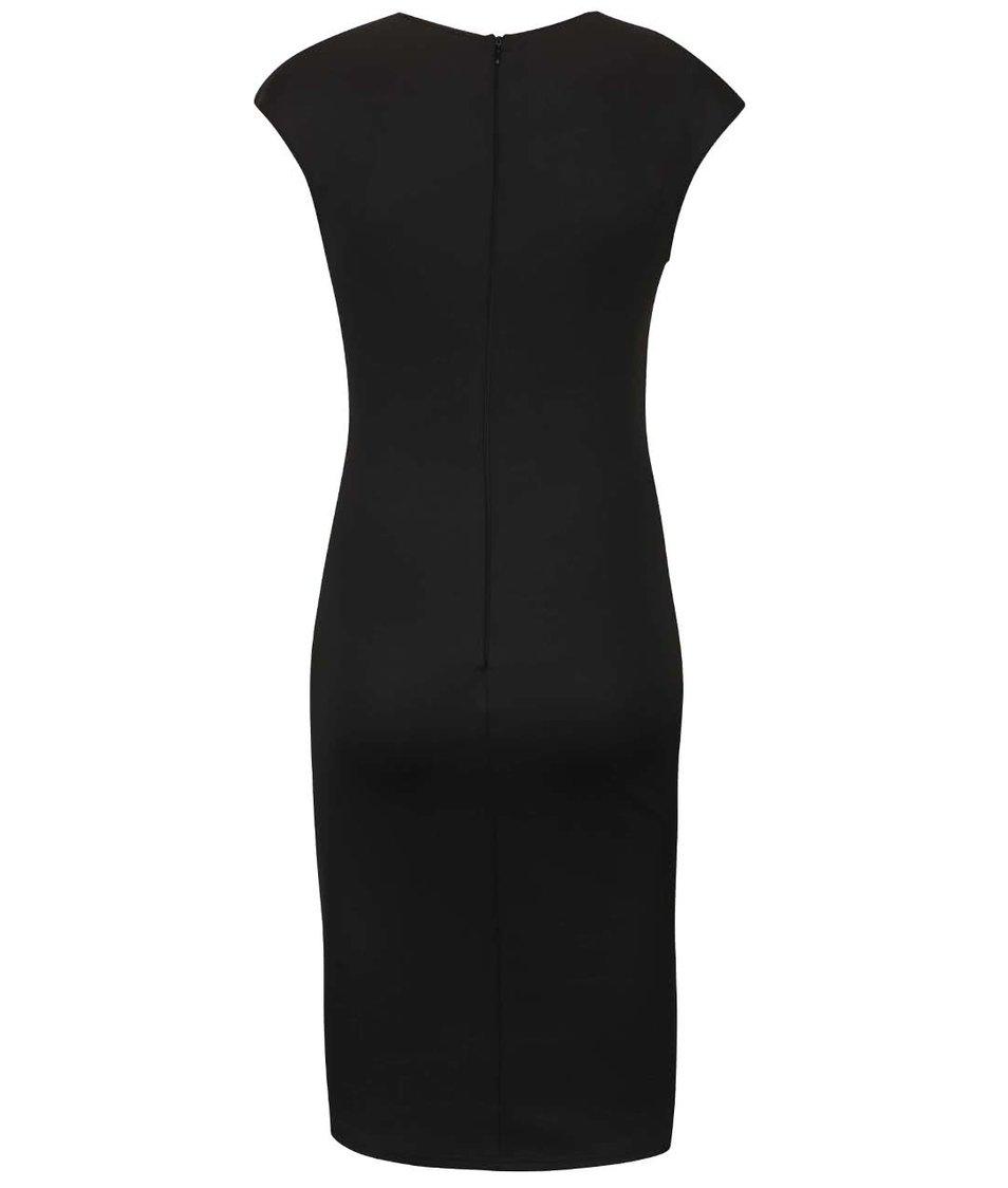 Černé šaty s nášivkou růží AX Paris