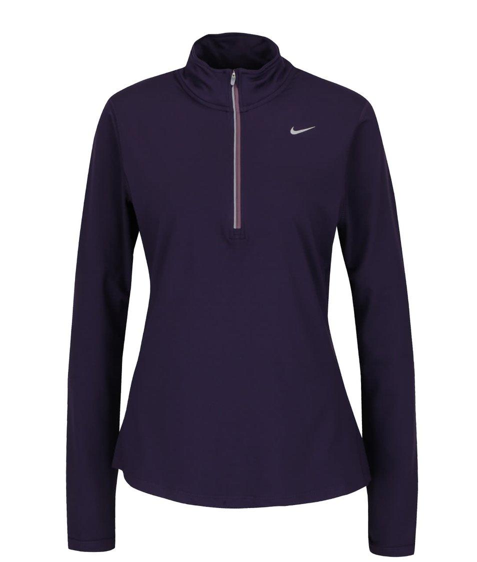 Fialové dámské tričko s dlouhým rukávem Nike Dry Element