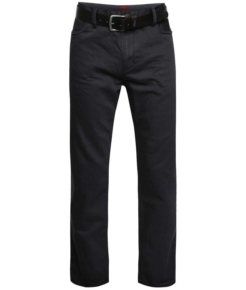 Tmavě šedé pánské džíny s páskem s.Oliver