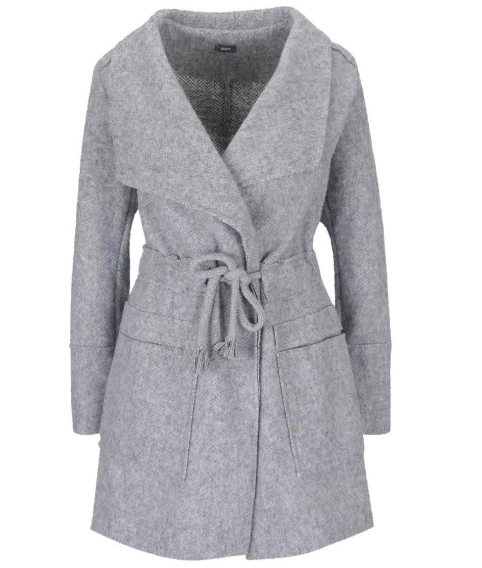 Světle šedý kabát ZOOT Simple