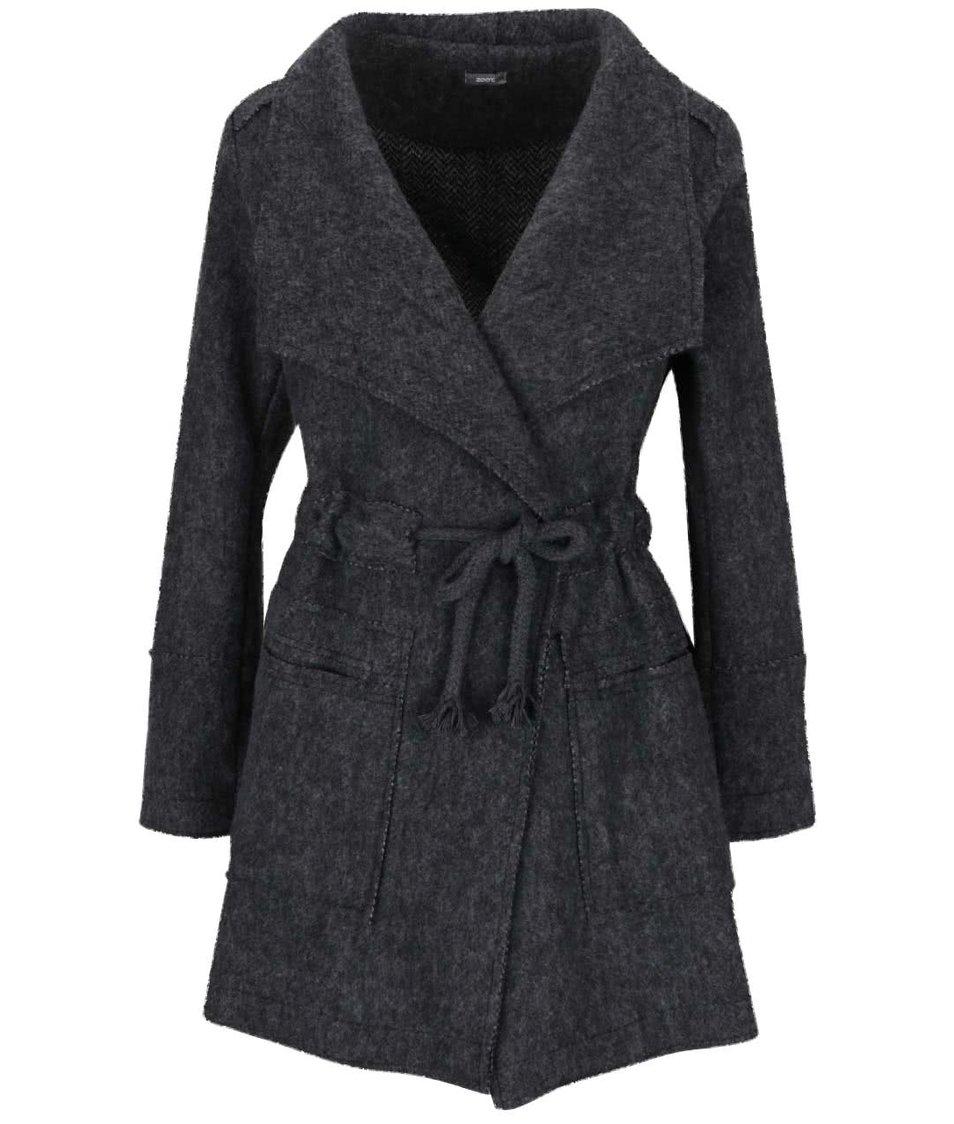 Tmavě šedý kabát ZOOT Simple
