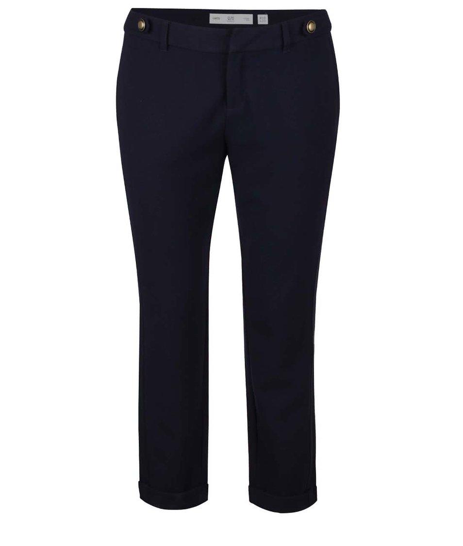 Tmavě modré dámské kalhoty s.Oliver