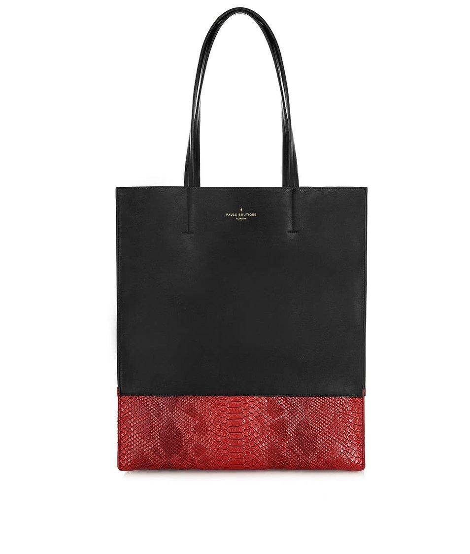 Červeno-černý shopper se vzorem Paul's Boutique Elana