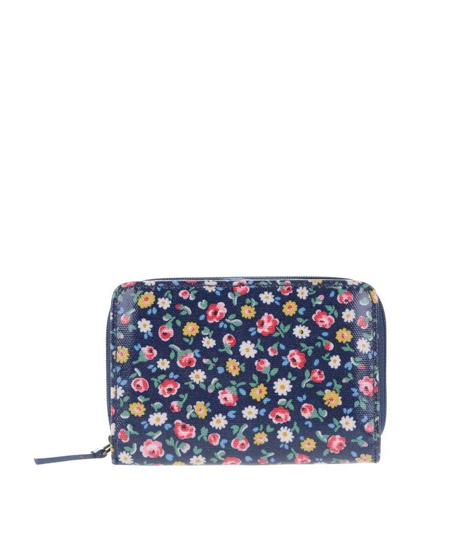 Tmavě modrá květovaná peněženka na zip Cath Kidston