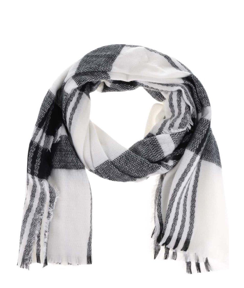 Bílo-černá šála Haily´s Schal Karo