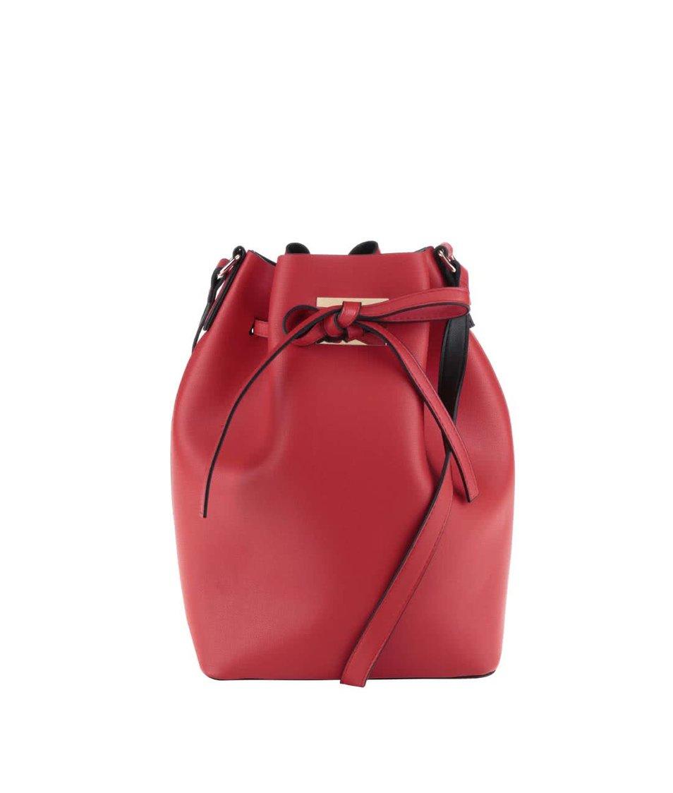 Červená kabelka Pieces Deena