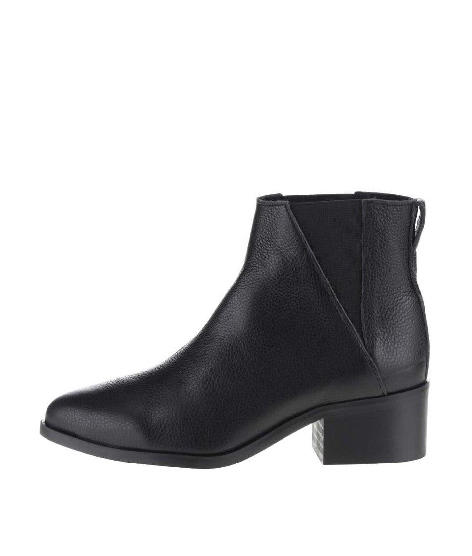 Černé chelsea kotníkové boty Pieces Drina