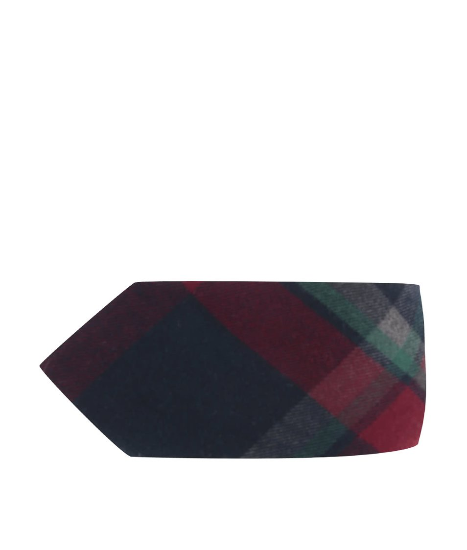 Červeno-modrá károvaná kravata Burton Menswear London