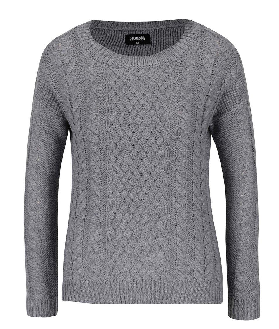 Šedý vzorovaný svetr Haily´s Nelly