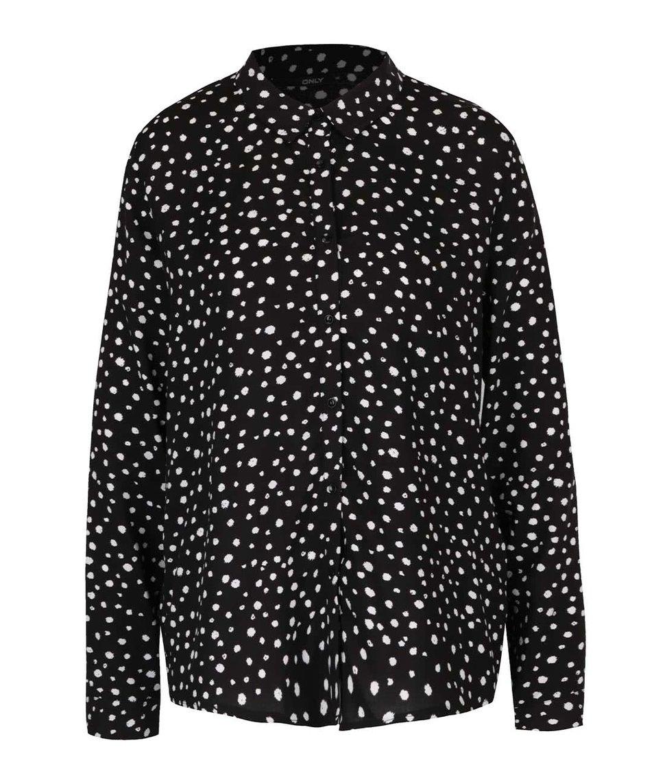 Krémovo-černá vzorovaná košile ONLY Iris