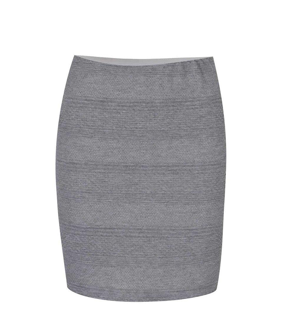 Šedá sukně s prošívaným vzorem Vero Moda Kaysa