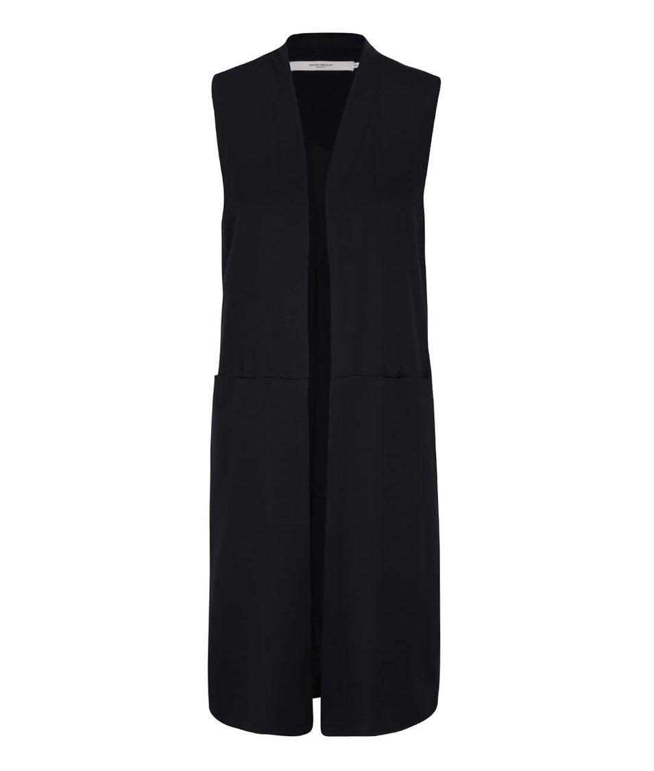 Tmavě modrá dlouhá vesta Vero Moda Cassy
