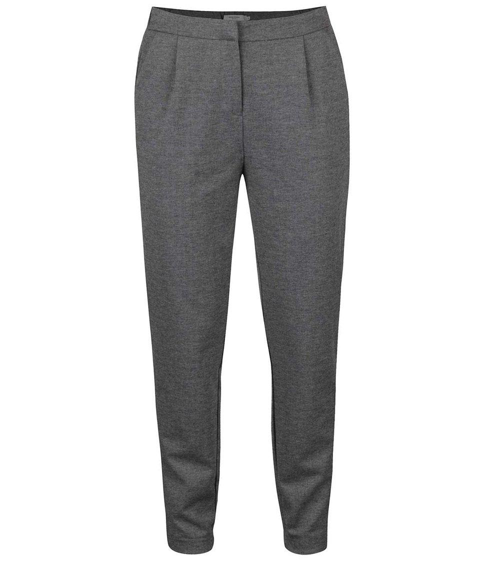Šedé volnější kalhoty Vero Moda Cassy