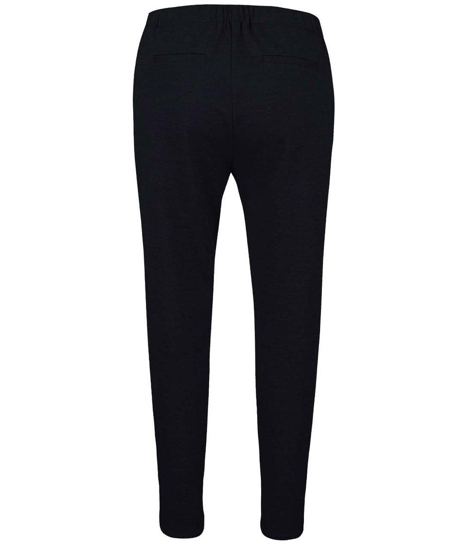 Tmavě modré volnější kalhoty Vero Moda Cassy