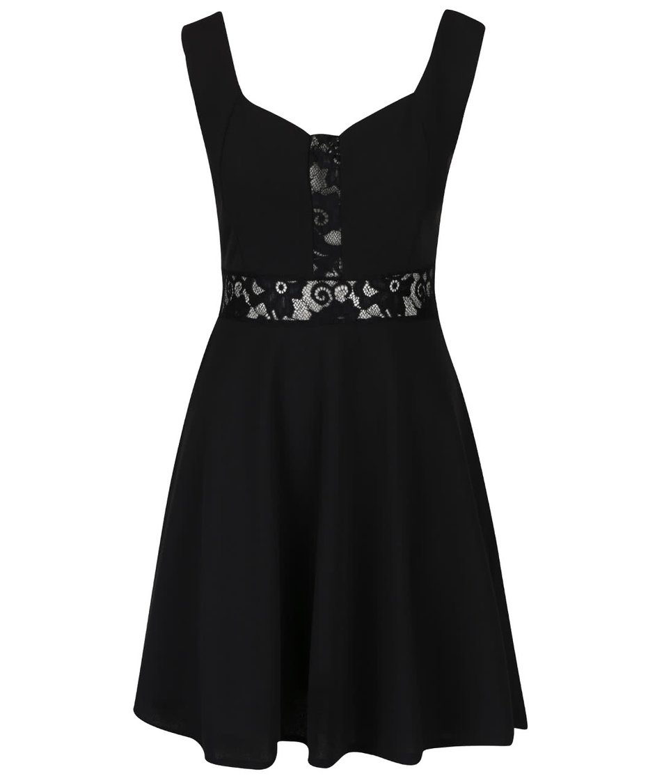 Černé šaty s krajkovanými detaily Haily´s Irene