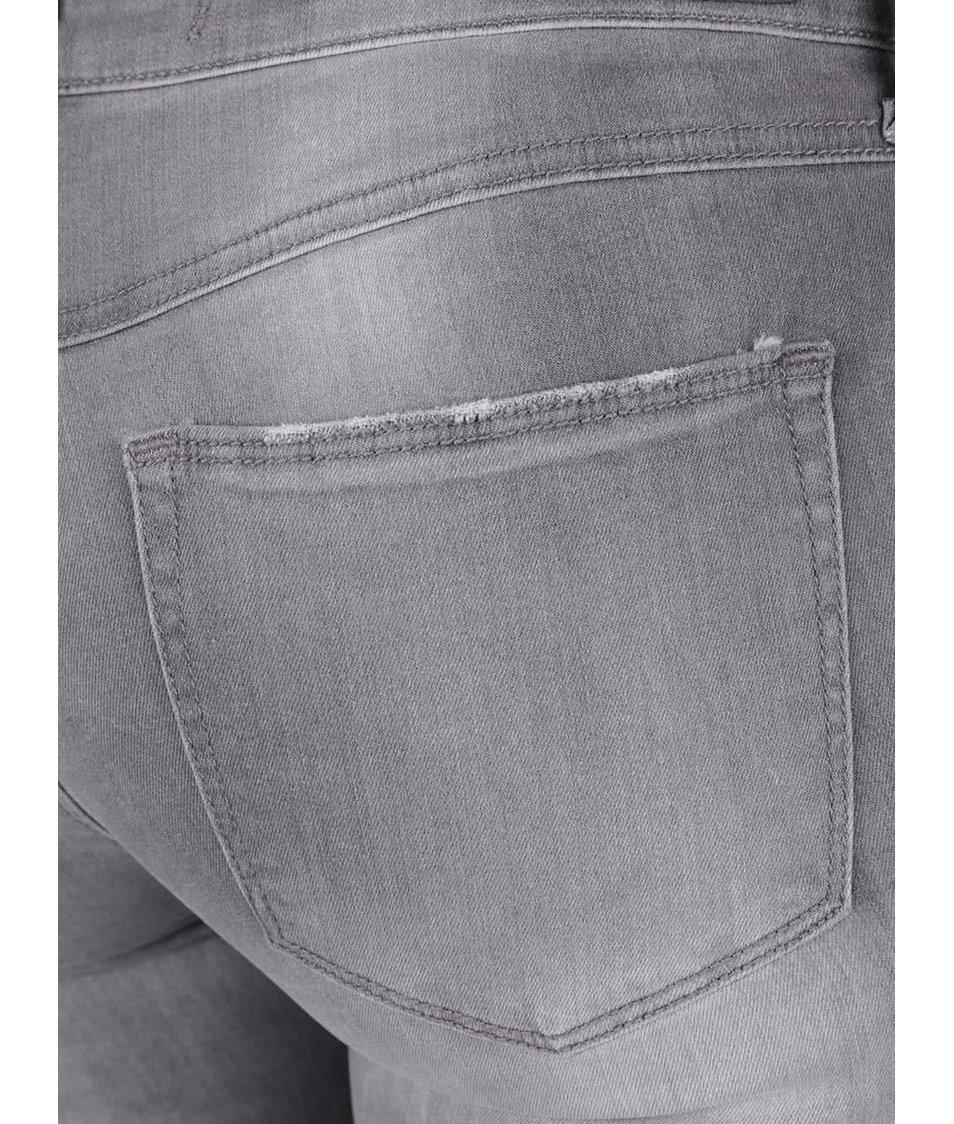 Světle šedé skinny džíny s nízkým pasem TALLY WEiJL